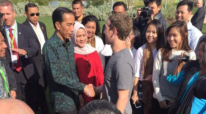 Jokowi disambut Mark Zuckerberg