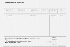 Baby Sitting Invoice Template Printable