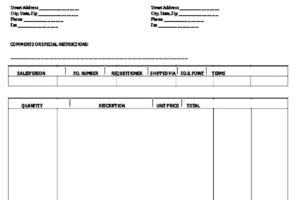 Cash Invoice Template Printable