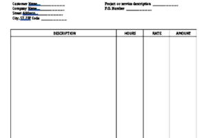 Sample Hourly Invoice